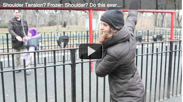 Leave your shoulder tension in the park for 2012!